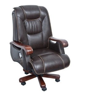 Wooden Leather Chair (FOH-B14003 )