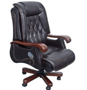 Wooden Leather Chair (FOH-B14001)