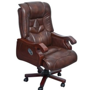 Wooden Leather Chair (FOH-B8003)