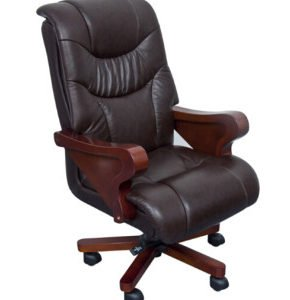 Wooden Leather Chair (FOH-B8011)