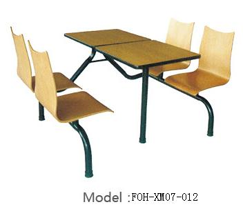 Connecting Table and Chair(FOH-XM07-012)