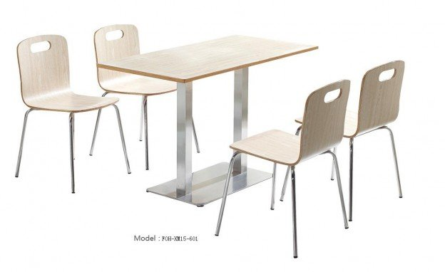 Common Table and Chair Set(FOH-XM15-601)
