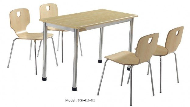 Common Table and Chair Set(FOH-XM16-602)