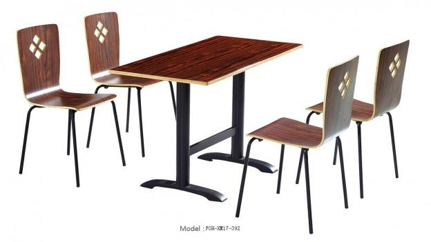 Common Table and Chair Set(FOH-XM17-392)