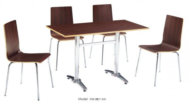 Common Table and Chair Set(FOH-XM17-605)