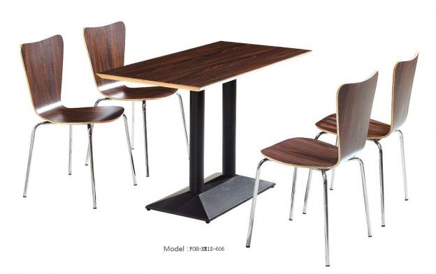 Common Table and Chair Set(FOH-XM18-606)
