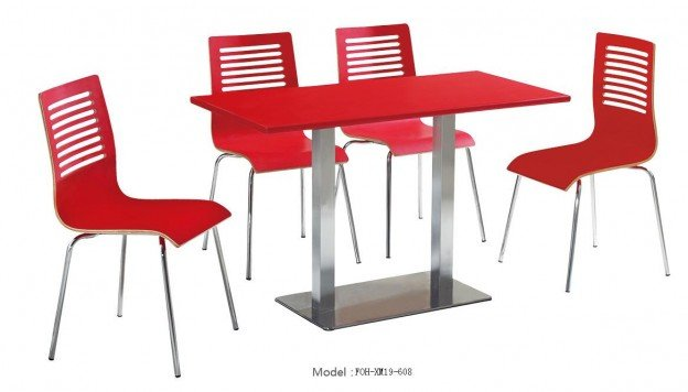 Common Table and Chair Set(FOH-XM19-608)