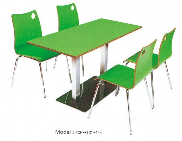 Common Table and Chair Set(FOH-XM21-455)