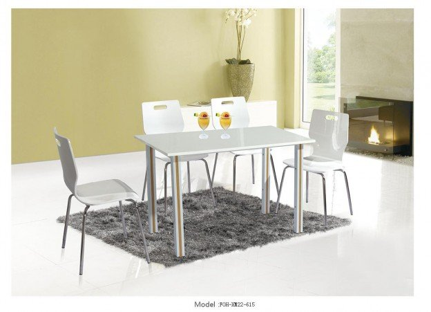 Common Table and Chair Set(FOH-XM22-615)