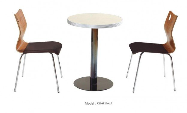 Common Table and Chair Set(FOH-XM23-617)