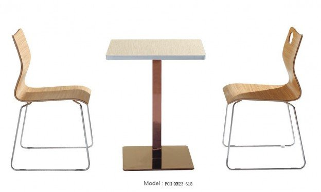 Common Table and Chair Set(FOH-XM23-618)