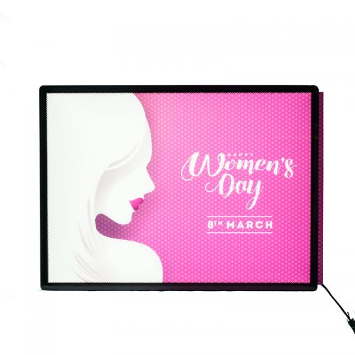 Backlit Advertising Light Box Poster A4 Side-drawing with Semi-tempered Glass (16)