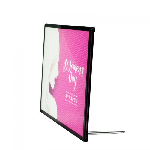 Backlit Advertising Light Box Poster A4 Side-drawing with Semi-tempered Glass (18)