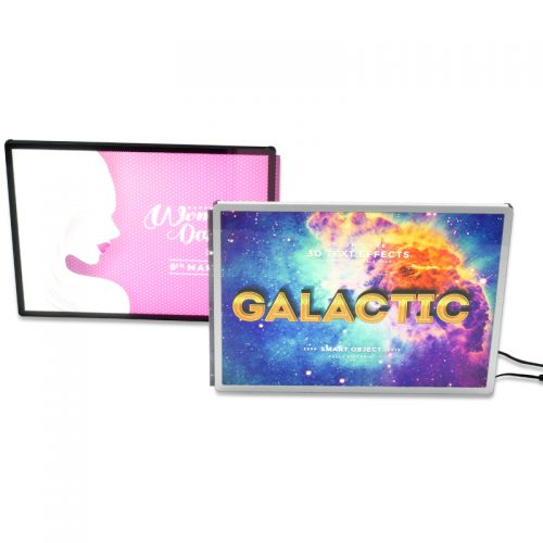 Backlit Advertising Light Box Poster A4 Side-drawing with Semi-tempered Glass (19)