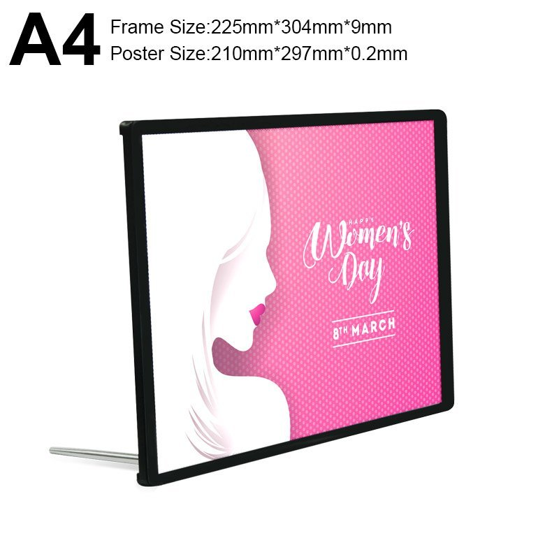 Backlit Advertising Light Box Poster A4 Side-drawing with Semi-tempered Glass (4)