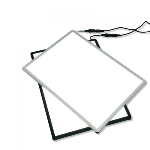 Backlit Light Box Advertising Sign for Advertisement Menu A2 Poster Side-drawing (10)