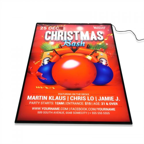 LED Advertising Light Box Sign Display Poster Size A1 with Semi-tempered Glass (5)