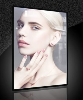 LED Advertising Light Box Sign Display Poster Size A2 with Semi-tempered Glass
