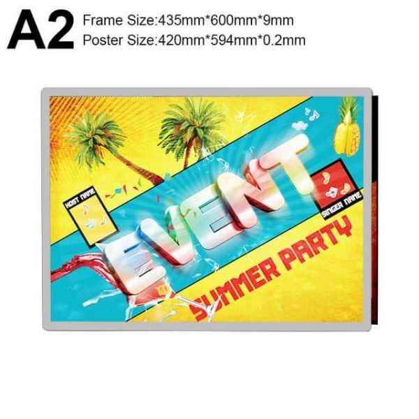 Light Box Sign Display Poster Size A2