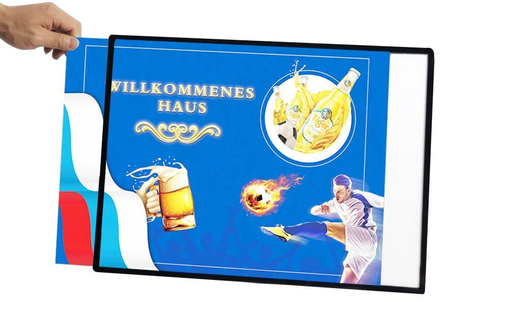 Backlit LED Light Box Backlit Advertising Sign Poster A3 Menu Wall Mounted (16)