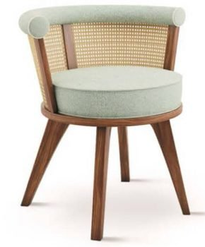 FOH-XY172 Rattan & Walnut Dining Chair
