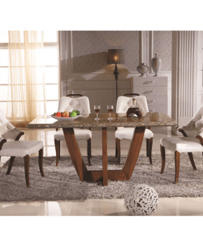 FOH-XY004 - Marble Finish Table Top Dining Set