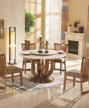FOH-XY018 - Solid Wood Modern Dining Table Set