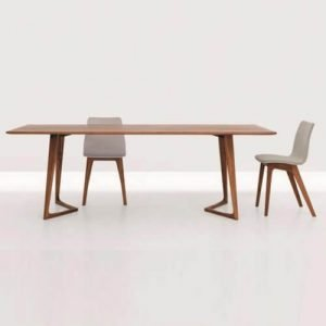 v shaped leg dining table