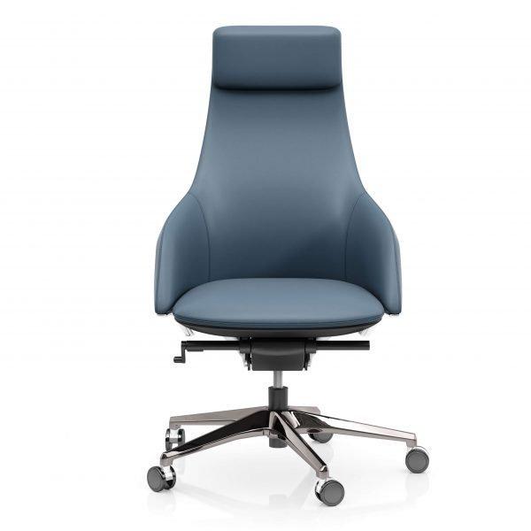 FOH-C10016b1 – Blue Office Swivel Chair High Adjustable Backrest