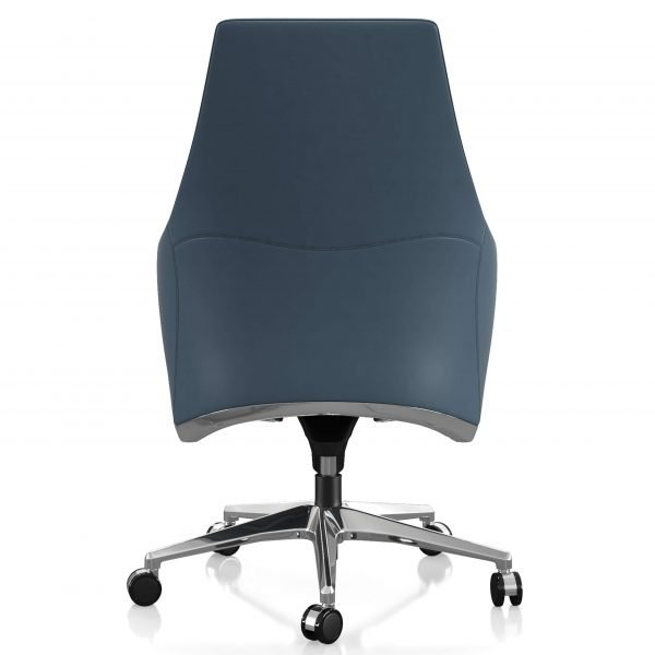 FOH-C106b Blue Office Swivel Chair with short tapering back