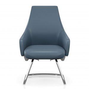 FOH-C106c - Blue Office Short Back U Base Chair