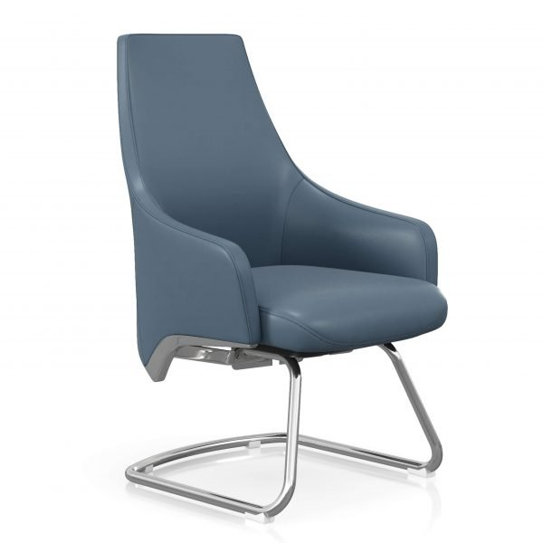 FOH-C106c - Blue Office Short Back U Base Chair