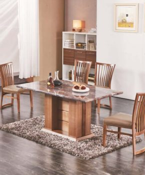 FOH-XY001 - Solid Wood Base Modern Dining Table