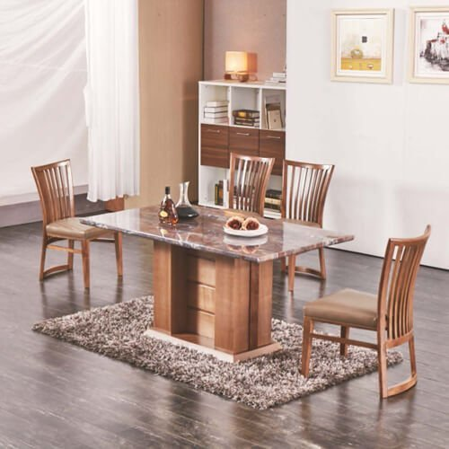 FOH-XY001 solid wood base dining table