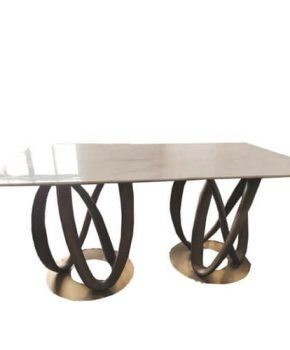FOH-XY024 - Ringed Hollow Disc Base Dining Table