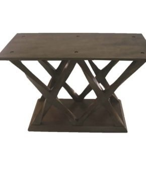FOH-XY811 - Double X Base Coffee Color Dining Table