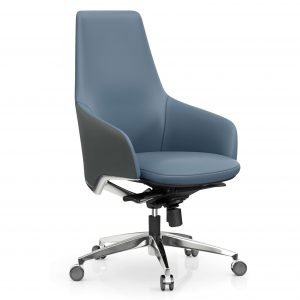 FOH-C1026b2 – Blue Office Swivel Chair Medium High Tilt Adjustable