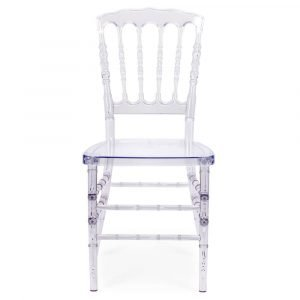 FOH-CF0002 Acrylic Clear Slatback Chair
