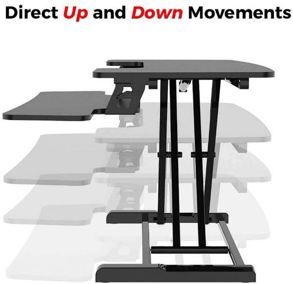 FOH-IFSST001 Intelligent Sit Stand Desktop Laptop Convertible Desk