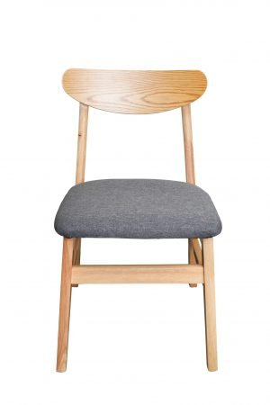 Natural wood dining chair and stool