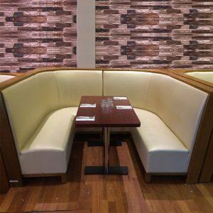 restaurant sofa booth