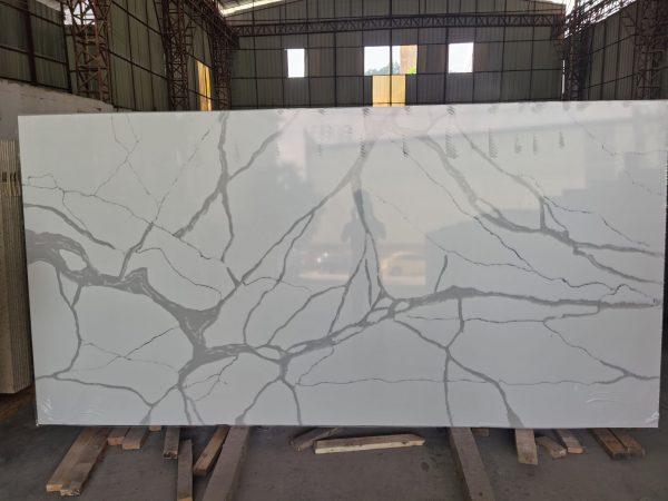 Quartz Stone B - White marble Look stone