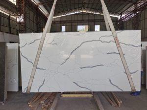 Quartz Stone C - White marble Look stone